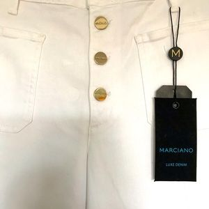 Guess Marciano Luxe Denim Cropped Pant (NWT)